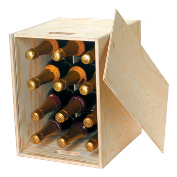 12 Bottle Wooden Wine Box Next Day Delivery