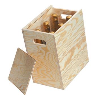 6 Bottle Wooden Gift Box Hamper