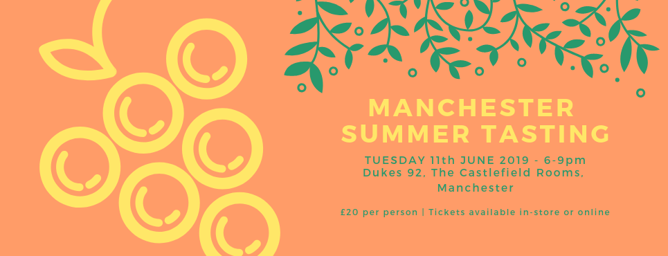 Manchester Summer Tasting 11th June 2019