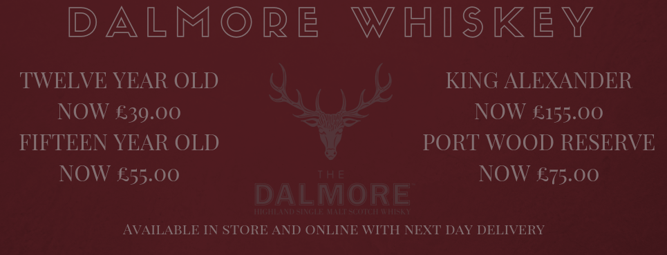 Great Prices on Dalmore Whiskey at Corks Out