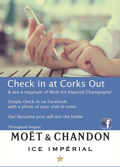 Check in this August and win a bottle of Moet Ice Magnum