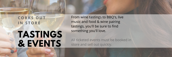 Corks Out in store tastings & events