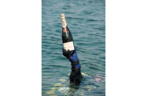 Diver-with-Champagne-Bottle
